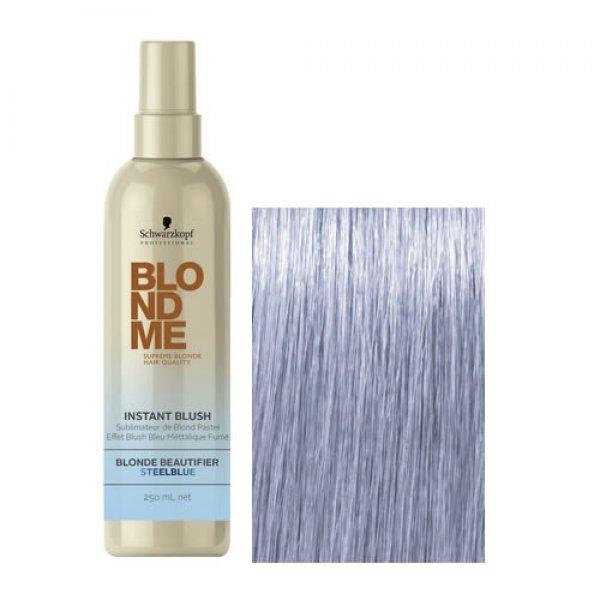 Schwarzkopf BlondMe Blush - Acélkék 250 ml