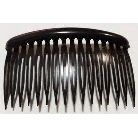 Byou dupla fogú fekete oldalfésű, 8 cm