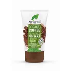 Dr Organic élénkítő arcradír bio kávéval, 125 ml
