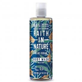 Faith in Nature kék cédrus tusfürdő férfiaknak, 400 ml