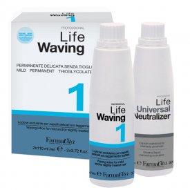 FarmaVita Life Waving dauerszett 1 vékonyszálú, normál és vegyileg kevésbé igénybevett hajra, 2x110 ml
