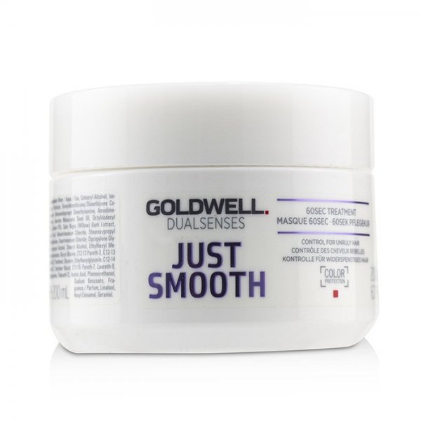 Goldwell Dualsenses Just Smooth 60sec hajpakolás rakoncátlan hajra, 200 ml