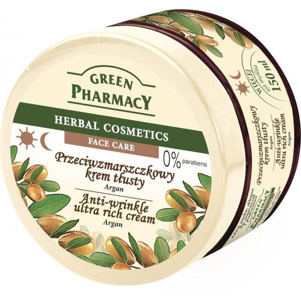 Green Pharmacy nappali és éjszakai ránctalanító arckrém argánolaj kivonattal, 150 ml