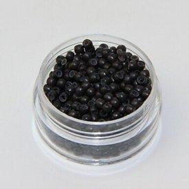 Nano gyűrű 2,5 mm fekete, 1000 db
