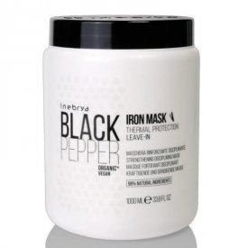 Inebrya Black Pepper Iron hajegyenesítő, hővédő hajban hagyható hajpakolás, 1 l