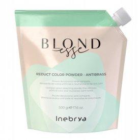 Inebrya Blondesse Reduct Color Antibrass zöld szőkítőpor rezesedés ellen, 50 g