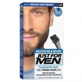 Just for Men szakáll és bajusz színező, közép-sötétbarna M-40