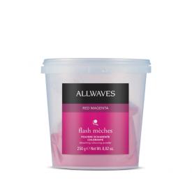 Allwaves Flash Meches melírpor, Red Magenta, 250 g