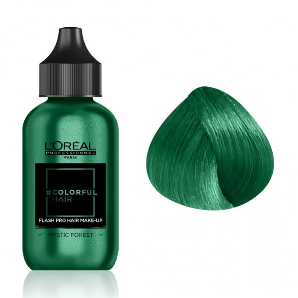 Loreal Professionnel COLORFUL Hair Make up MYSTIC FOREST, sötét zöld, 90 ml