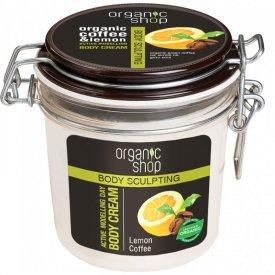 Organic Shop frissítő testformáló krém bio kávé és citrom kivonattal, 350 ml