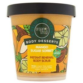 Organic Shop Mango Sugar bőrmegújító cukros testradír, 450 ml