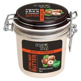 Organic Shop bőrfeszesítő testvaj bio sheavaj és mogyoró kivonattal, 350 ml