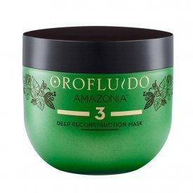 Orofluido Amazonia mélyen tápláló hajújraépítő maszk 3. lépés, 500 ml