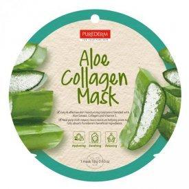 PureDerm Aloe Vera hidratáló és bőrnyugtató circle fátyolmaszk, 1 db