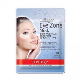 PureDerm bőrfeszesítő és ránctalanító kollagén szemmaszk, 15 pár