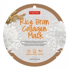 PureDerm rizskorpa circle bőrfehérítő és hidratáló fátyolmaszk, 1 db
