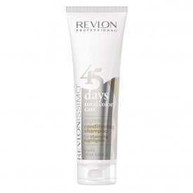 Revlon 45 Days Stunning Highlights szulfátmentes sampon világosított és ősz hajra, 275 ml