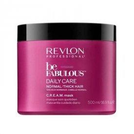 Revlon Be Fabulous Daily Care hajpakolás normál és vastagszálú hajra, 500 ml
