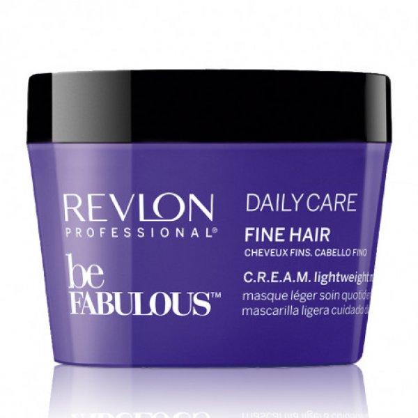Revlon Be Fabulous Daily Care Cream Lightweight maszk vékonyszálú hajra, 200 ml