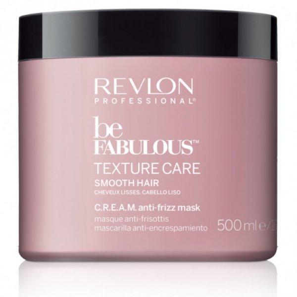 Revlon Be Fabulous Texture Care Cream Anti-frizz maszk egyenes hajra, 500 ml