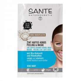 Sante 2 az 1-ben kávés kókuszos radír és maszk, 2 x 4 ml