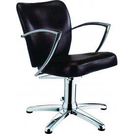 Stella szatén fekete fehér hidraulikus fodrász szék SX 2107