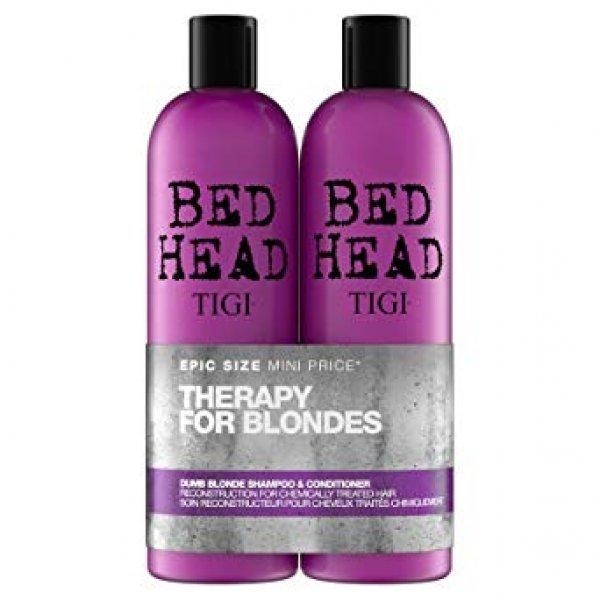 Tigi Bed Head Dumb Blonde Duo sampon+kondicionáló, 2x750 ml