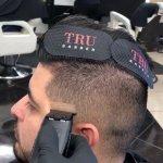 True Barber hajleválasztó lap, fekete-fehér, 2 db
