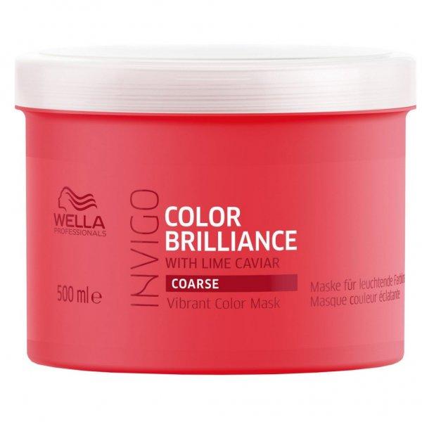 Wella Professionals Invigo Color Brilliance tápláló hajpakolás festett vastag szálú hajra, 500 ml