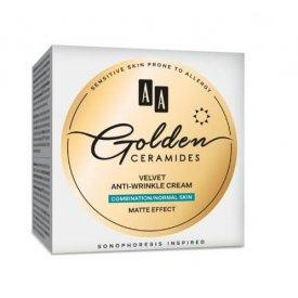 AA Golden Ceramides bársonyos ránctalanító nappali arckrém kombinált és normál bőrre 50 ml