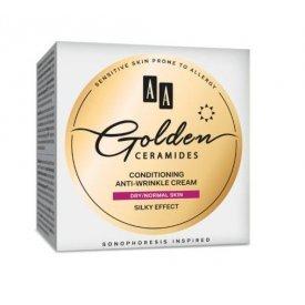 AA Golden Ceramides ránctalanító nappali arckrém száraz és normál bőrre, 50 ml
