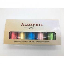 Aluxfoil bonbon csomagoló alumínium fólia, 5 szín, 5x10 m