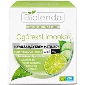 Bielenda Uborka és Lime mattító nappali/éjszakai arckrém, 50 ml