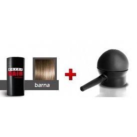 Cover Hair Volume hajdúsító, 30 g, barna + szórófej
