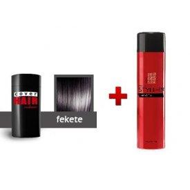 Cover Hair Volume hajdúsító, 30 g, fekete + kötést erősítő spray