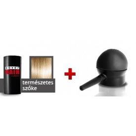 Cover Hair Volume hajdúsító, 30 g, sötét szőke (természetes szőke) + szórófej