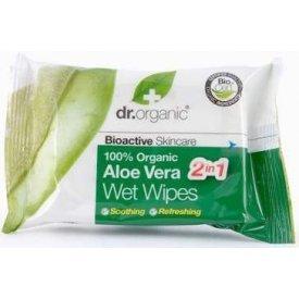 Dr. Organic Bio Aloe Vera nedves törlőkendő, 20 db