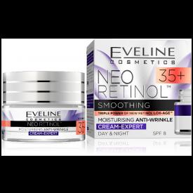 Eveline Neo Retinol 35+ hidratáló ránctalanító nappali és éjszakai arckrém, 50 ml