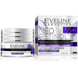 Eveline Neo Retinol 55+ Lifting hatású ránctalanító nappali és éjszakai arckrém, 50 ml