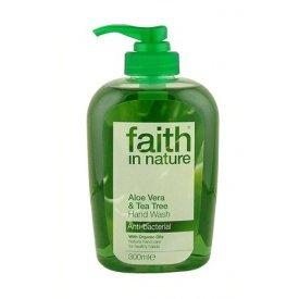 Faith in Nature folyékony kézmosó bio Aloe Vera és teafa, 300 ml