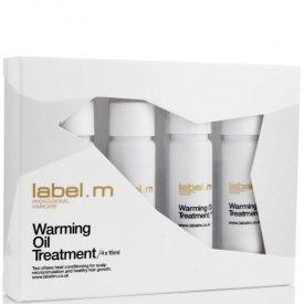 Label.m hajnövekedést segítő melegítő olajos kezelés, 4x15 ml