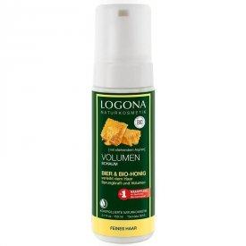 Logona volumennövelő hajformázó hab sörrel és bio mézzel, 150 ml