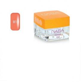 Naba Colour Gel színes zselé, 81 Pink Cloud, 3,5 ml