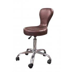 Purple Collection SX-1505 támlás forgó ülőke, szatén lila