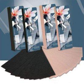 Ro.ial gyantalehúzó csík 7x20 cm, fekete, 100 db