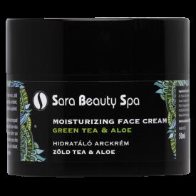 Sara Beauty Spa zöld tea és aloe hidratáló arckrém, 50 ml