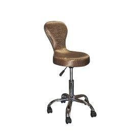 Satin Brown Collection SX-1505 támlás forgó ülőke, szatén barna