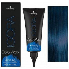 Schwarzkopf Igora Colorworx fizikai hajszínező 100 ml, kék
