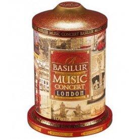 Basilur Music Concert London szálas ceyloni fekete tea zenélő fém díszdobozban, 100 g