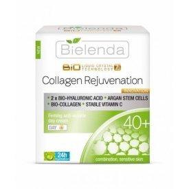 Bielenda Liquid Crystal Biotechnology 7D Collagen rejuvenation 40+ hidratáló és bőrkisimító nappali krém, 50 ml